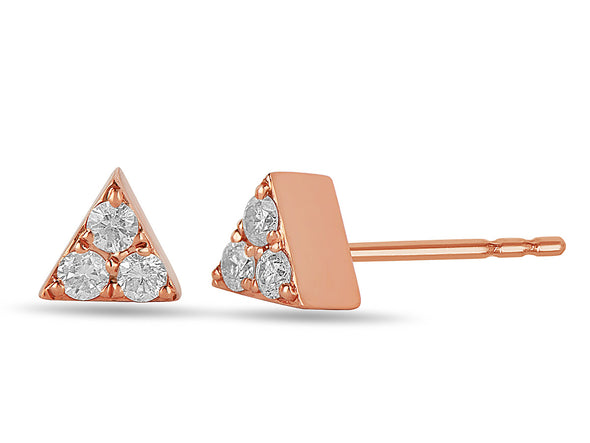 Petite Pave Triangle Diamond Studs