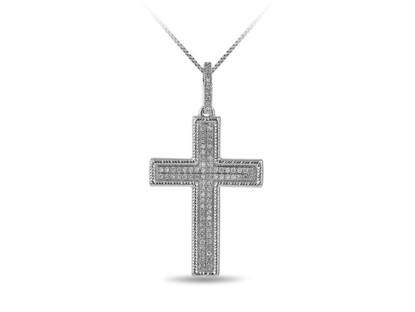Pave Diamond Cross