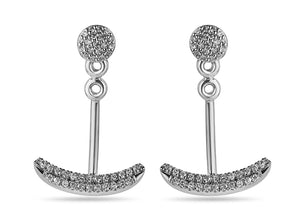 Pave Set Ear Hugger Jacketed Earrings