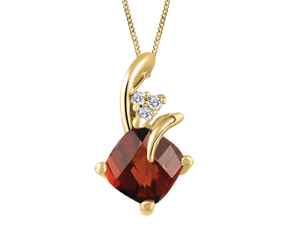 Petite Garnet and Diamond Pendant