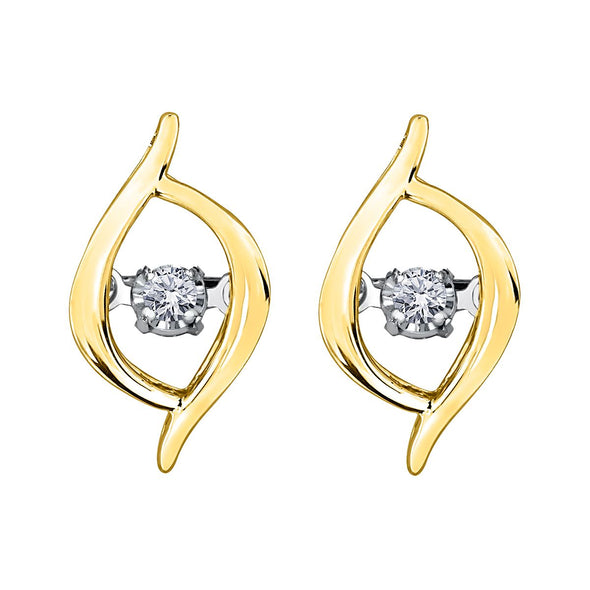 Dancing Diamond Crossover Earrings