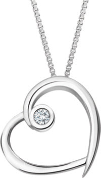 Classic Diamond Heart Pendant