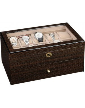 20 Piece Zebra Wood Watch Box