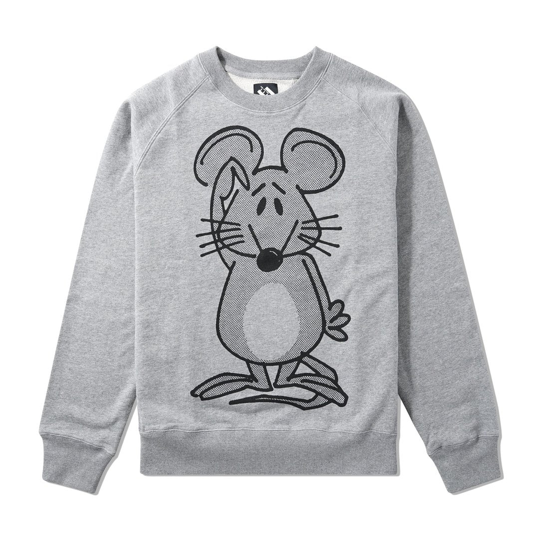 Mouse Crewneck, Heather Grey