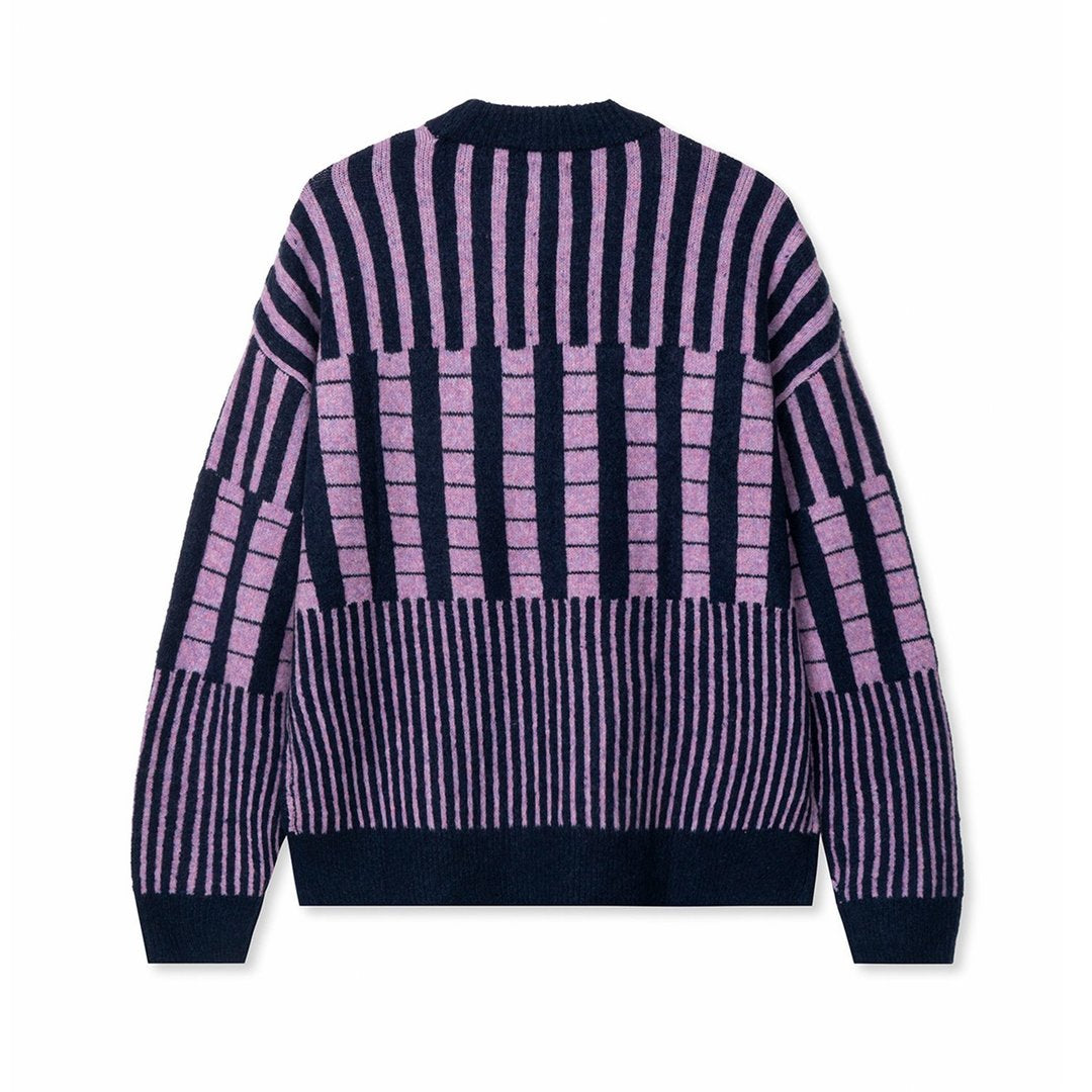 Varied Stripe Mock Neck Sweater, Multi