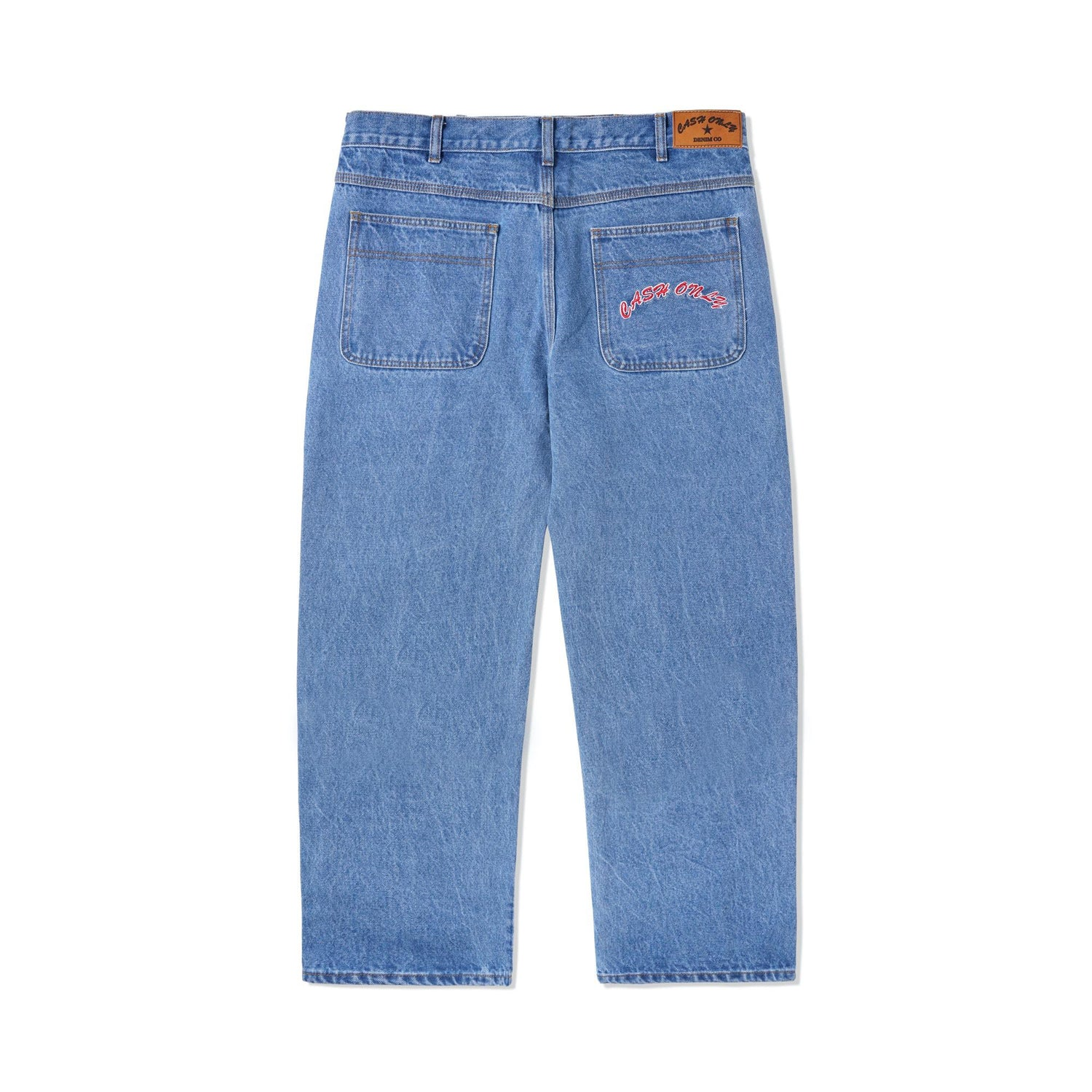 Baggy Denim Jeans, Washed Indigo