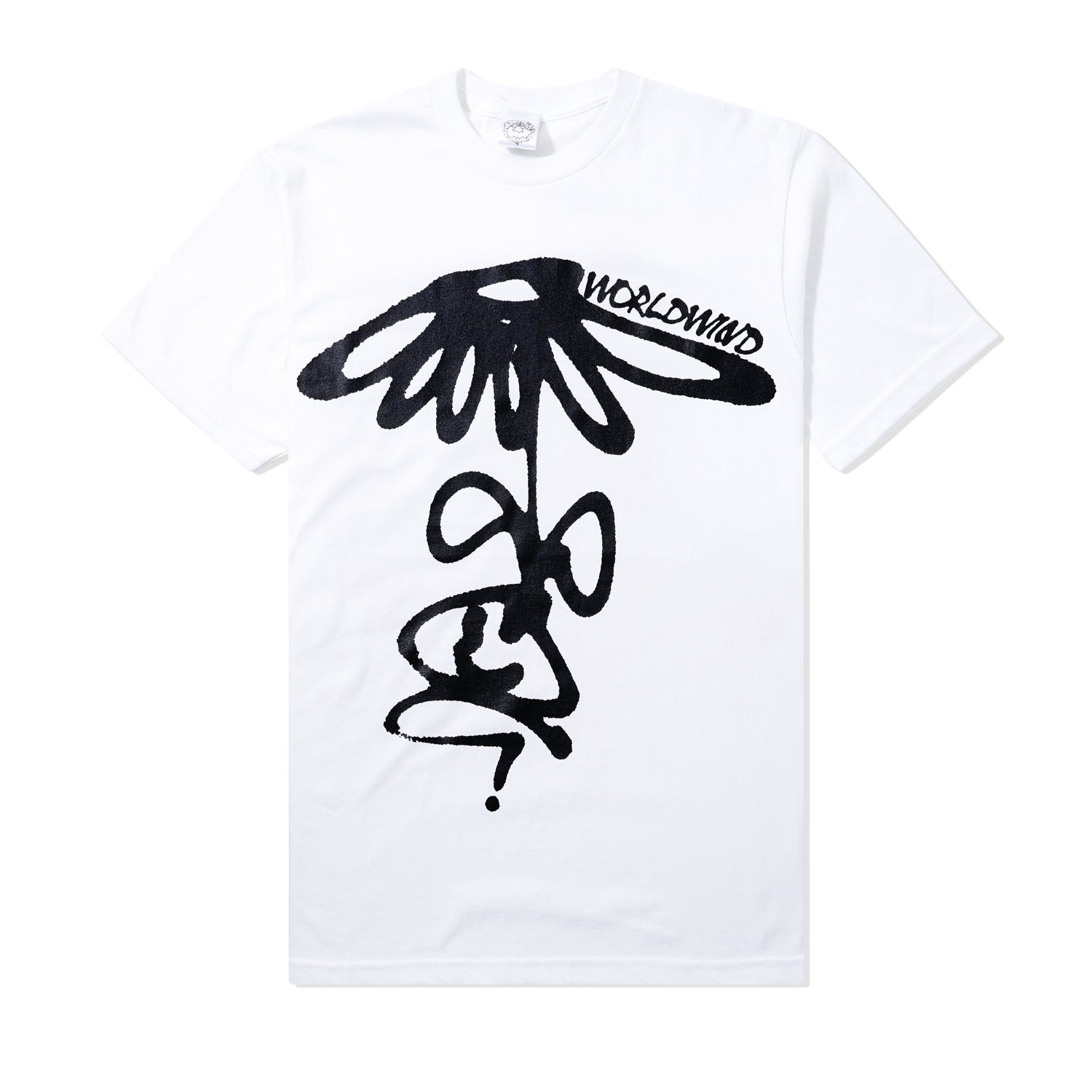Grow Up-Side Down Tee, White