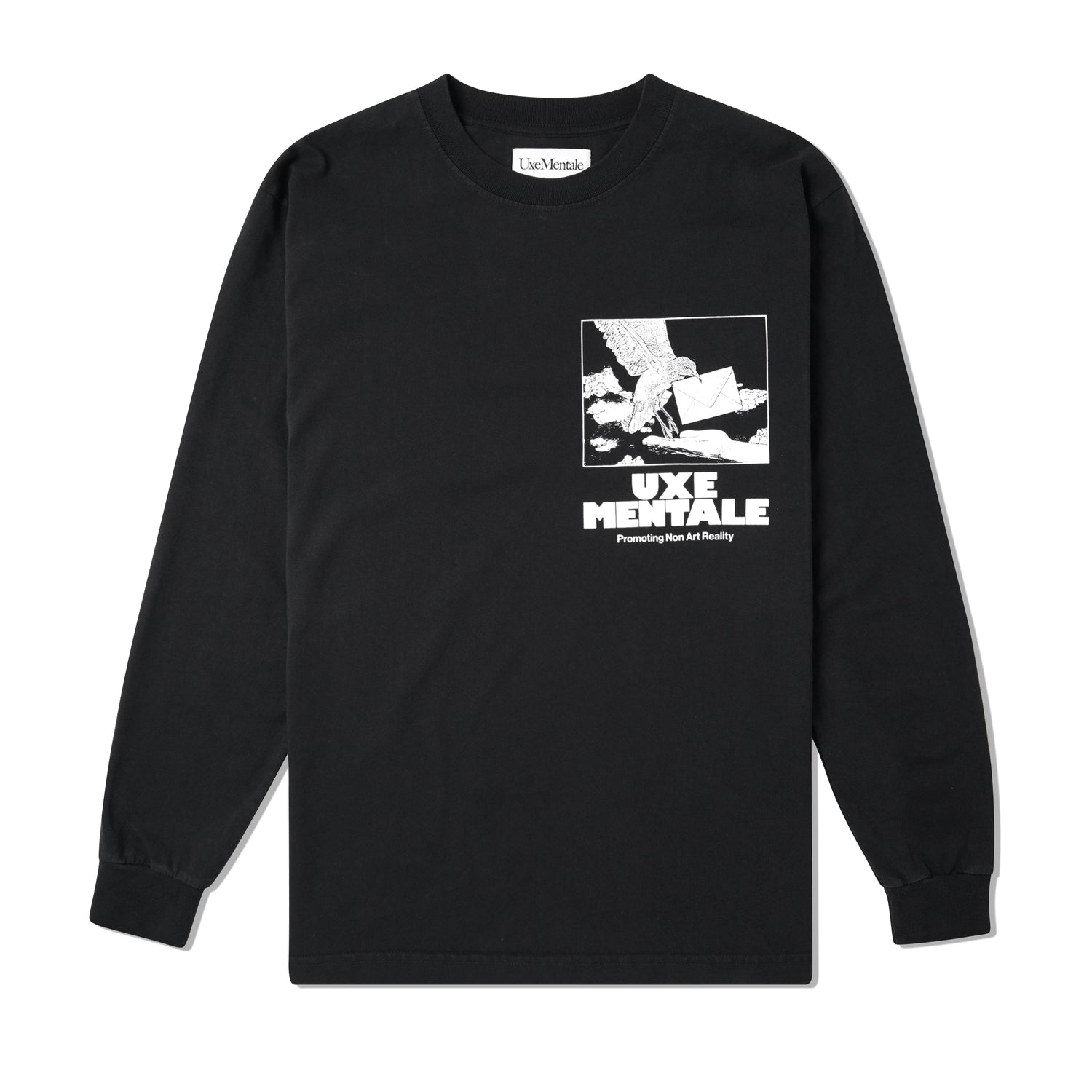 Non Art Reality L/S Tee, Washed Black