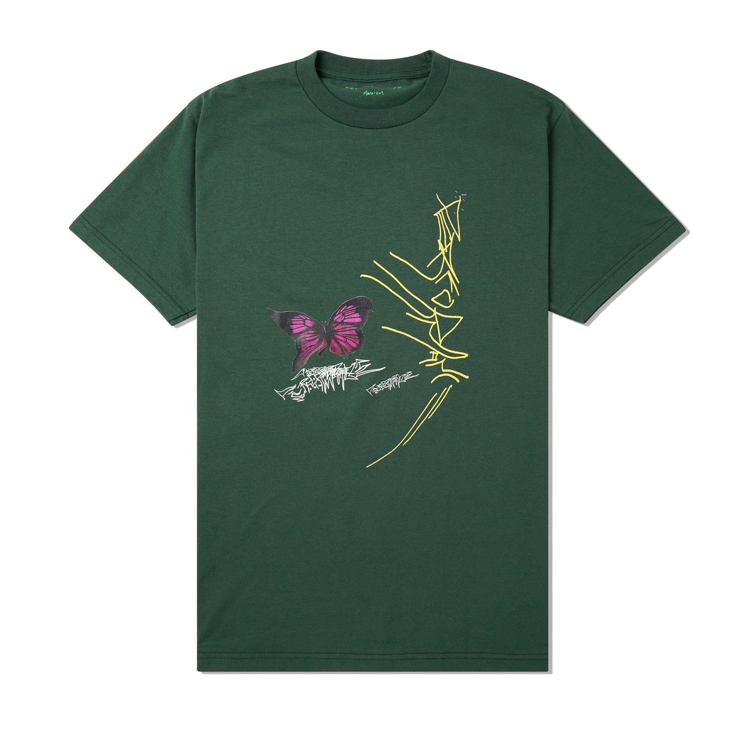 Warped Butterfly Tee, Forest Green