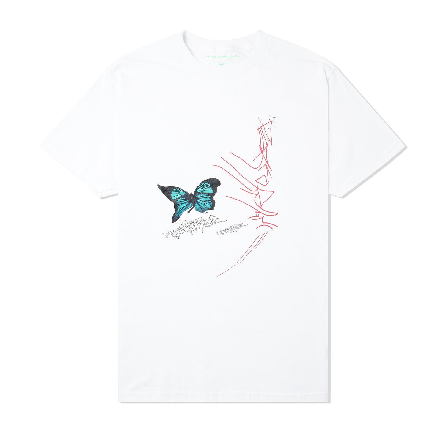 Warped Butterfly Tee, White