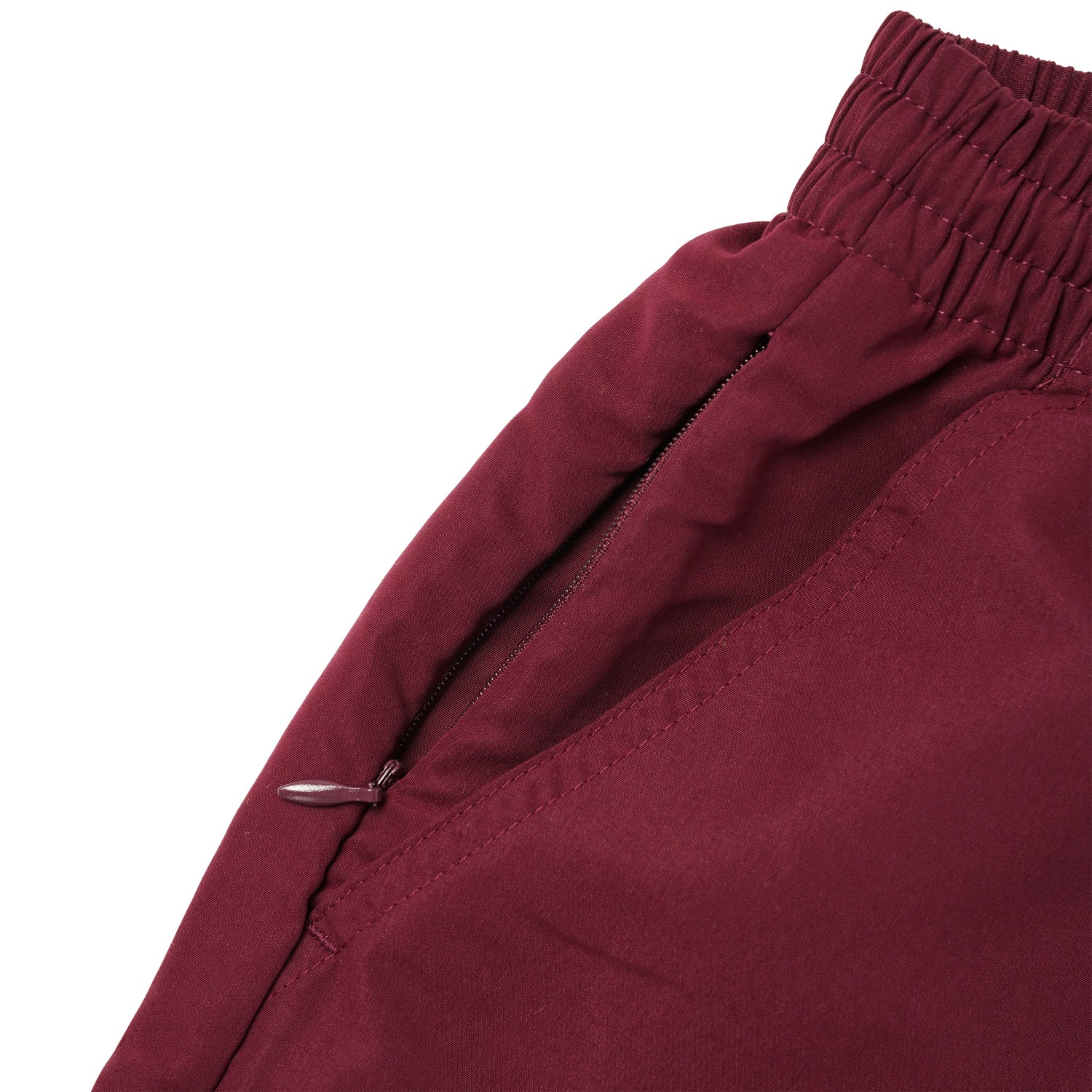 Warped Check Shorts, Maroon