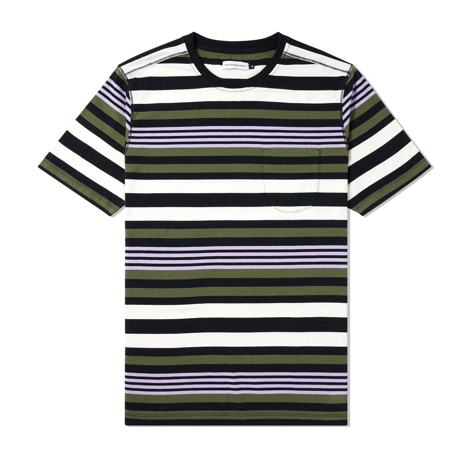 Striped Pocket Tee, Multi