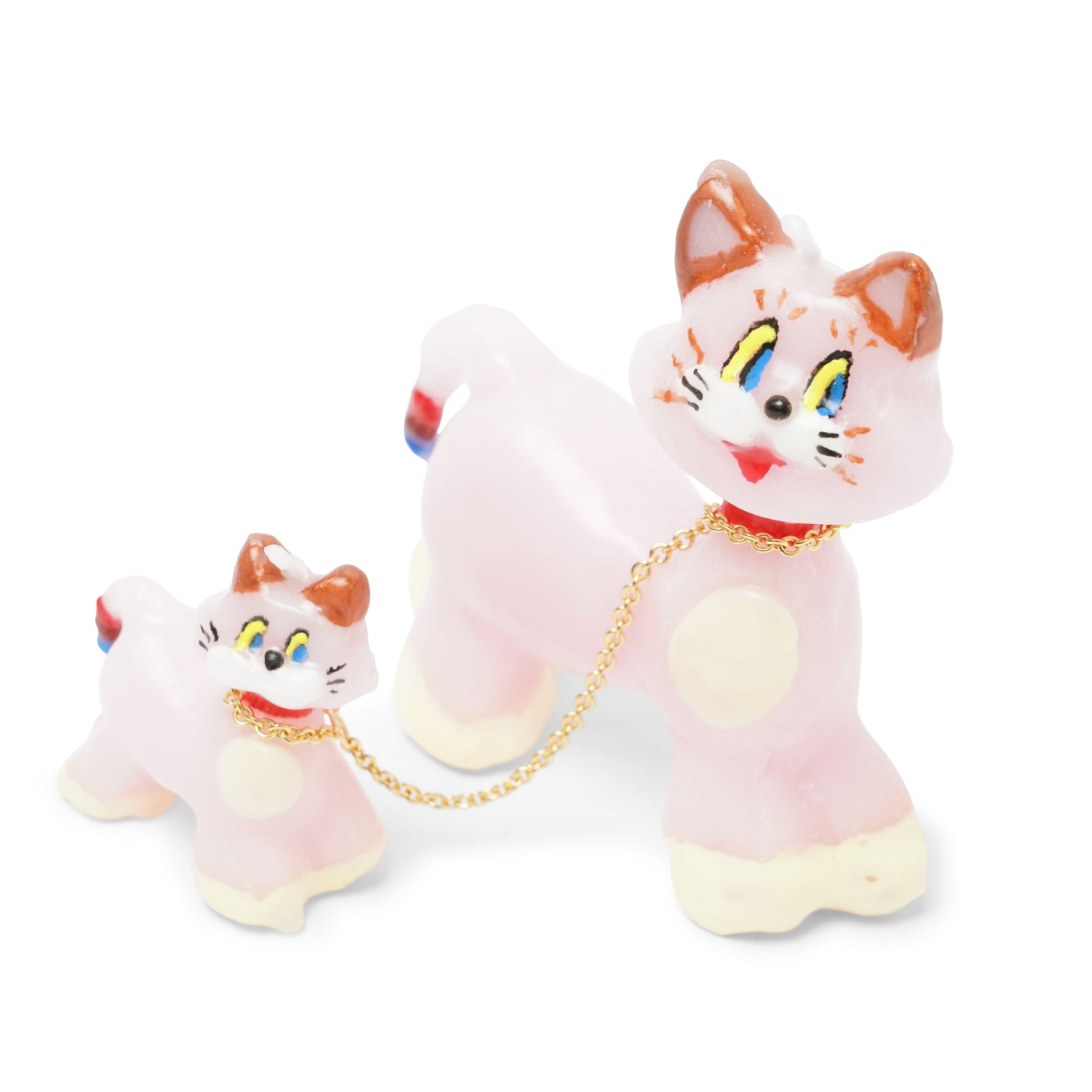 Pink Cats Candle