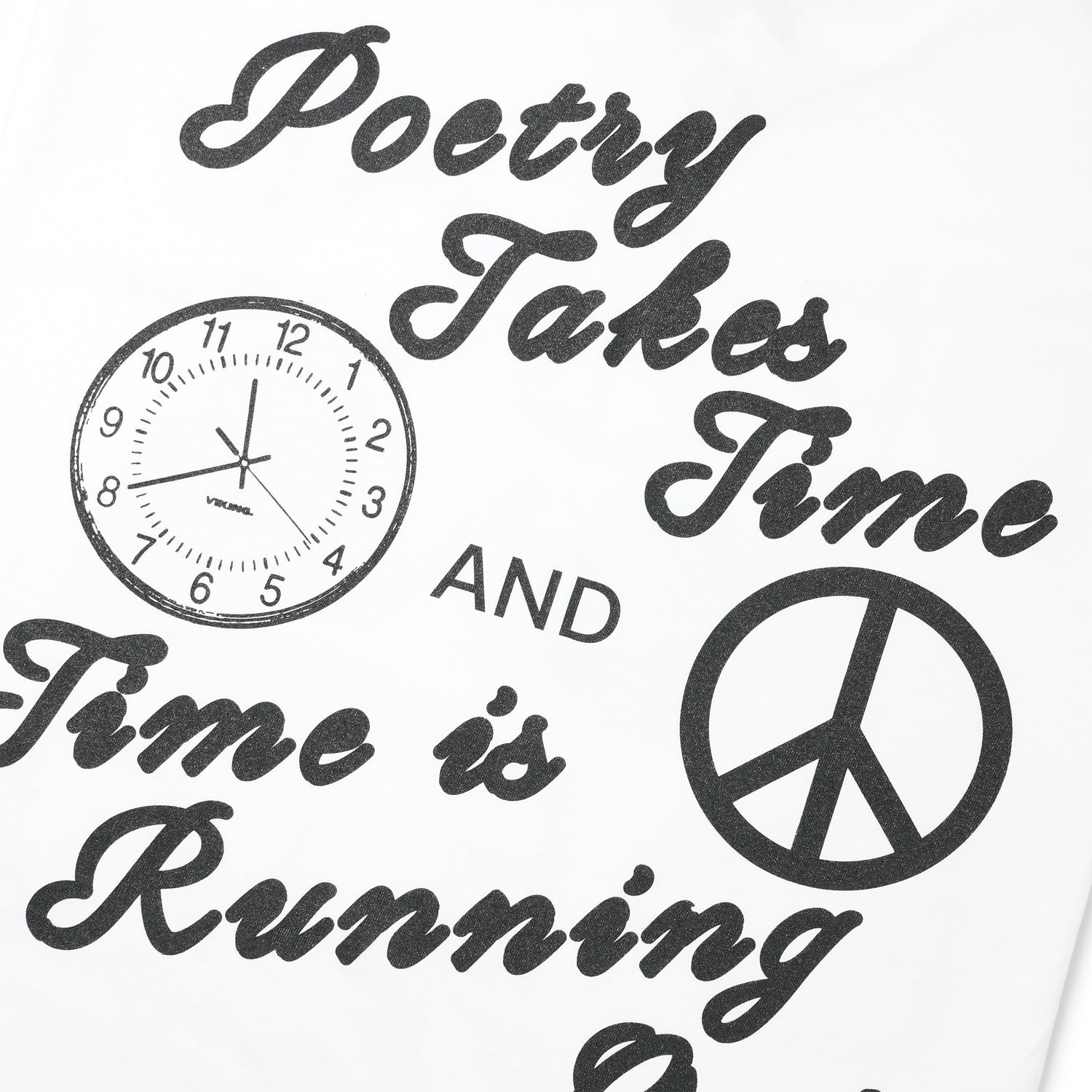 Peace On Earth Poetry Journal #001 Tee, White