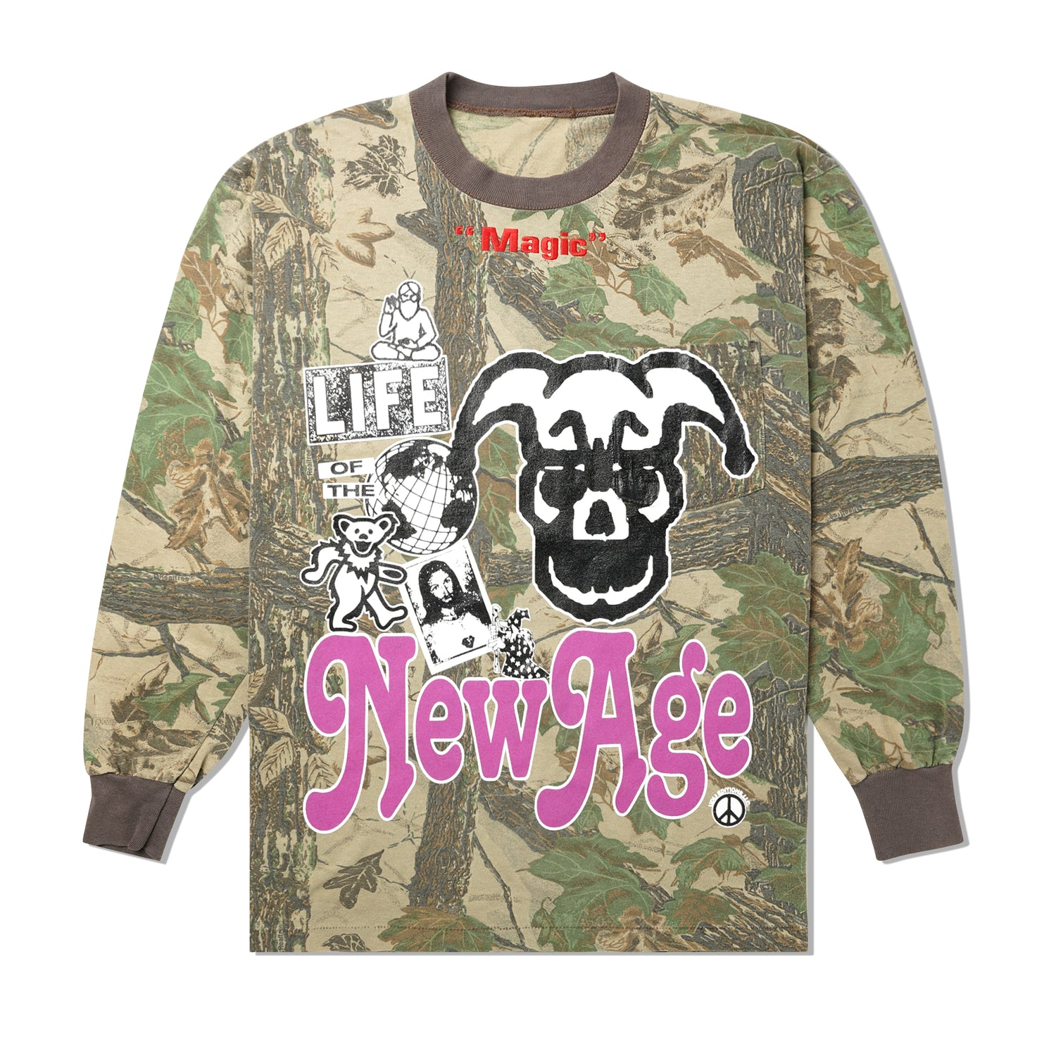 New Age One Of A Kind L/S Tee, Camo