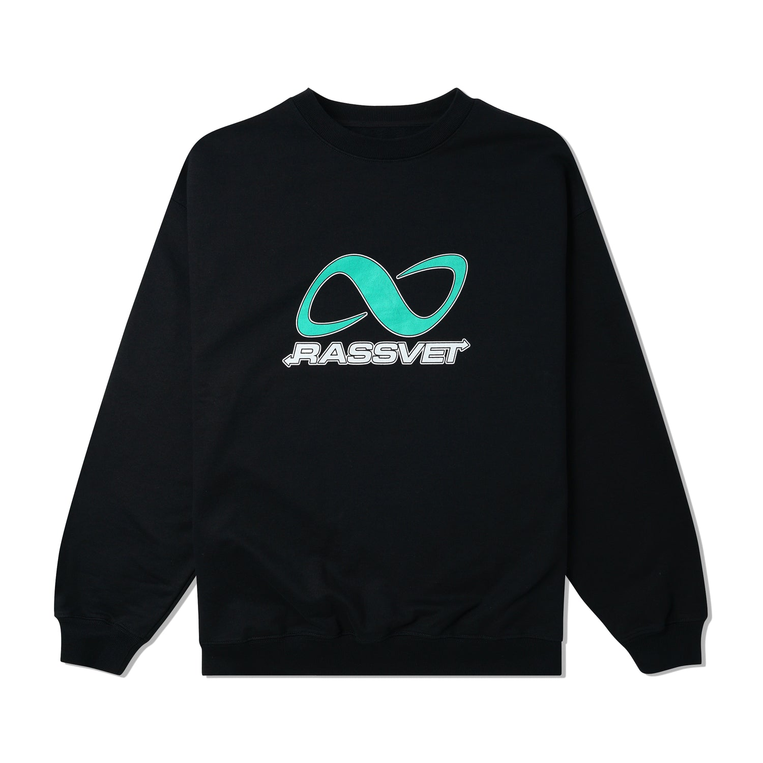 Logo Printed Crewneck, Black