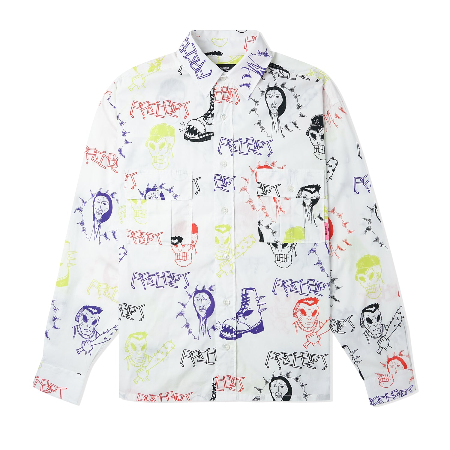 Printed L/S Shirt, Multi