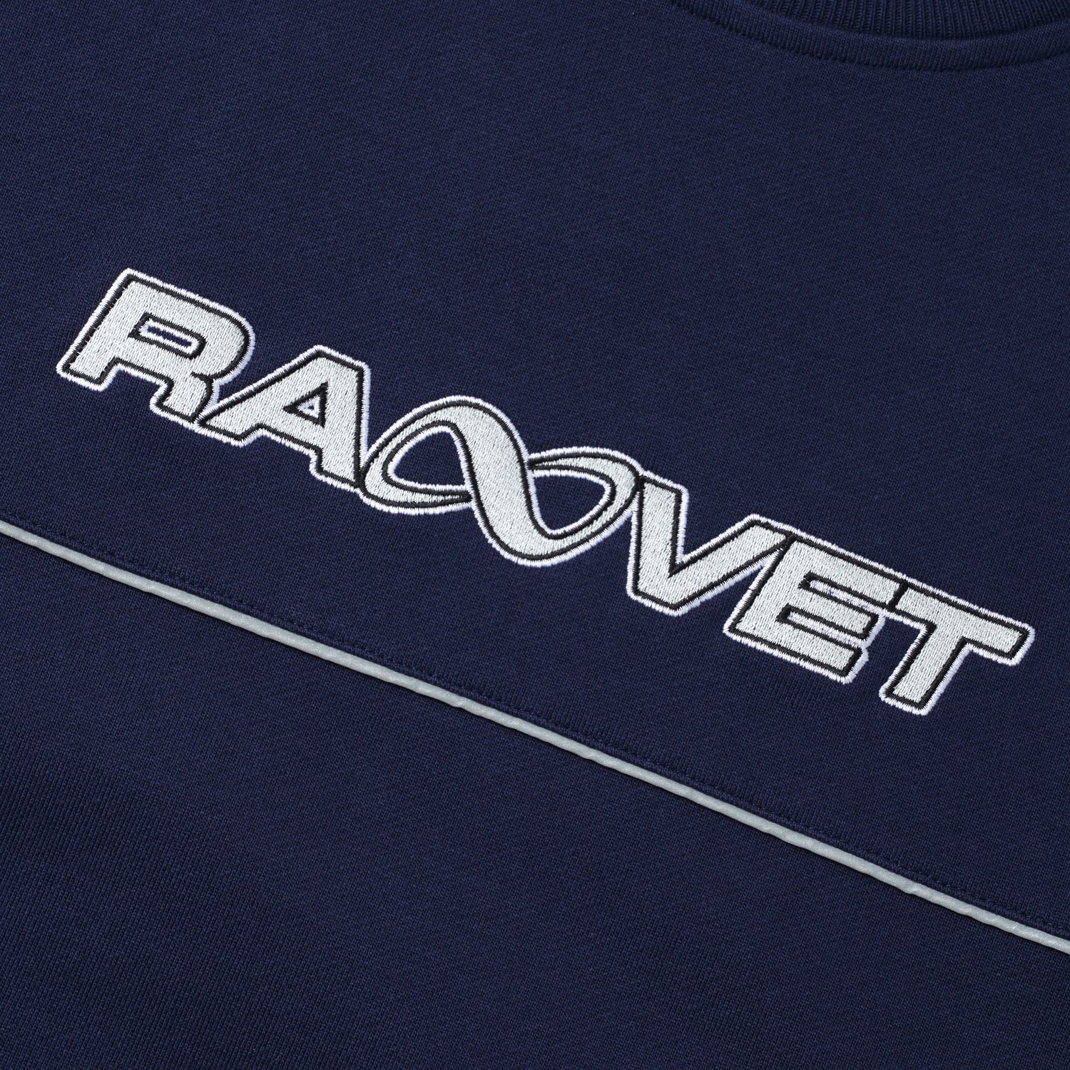 Embroidered Crewneck, Navy