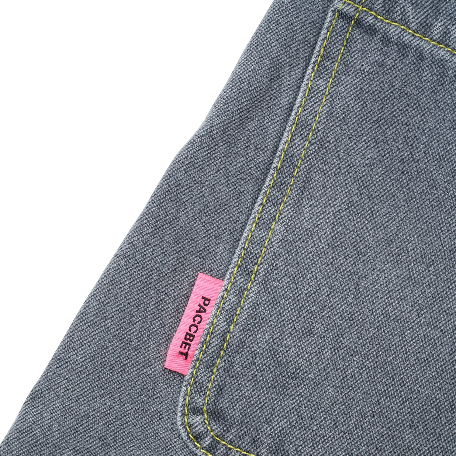 Graffiti Denim Pants, Light Grey