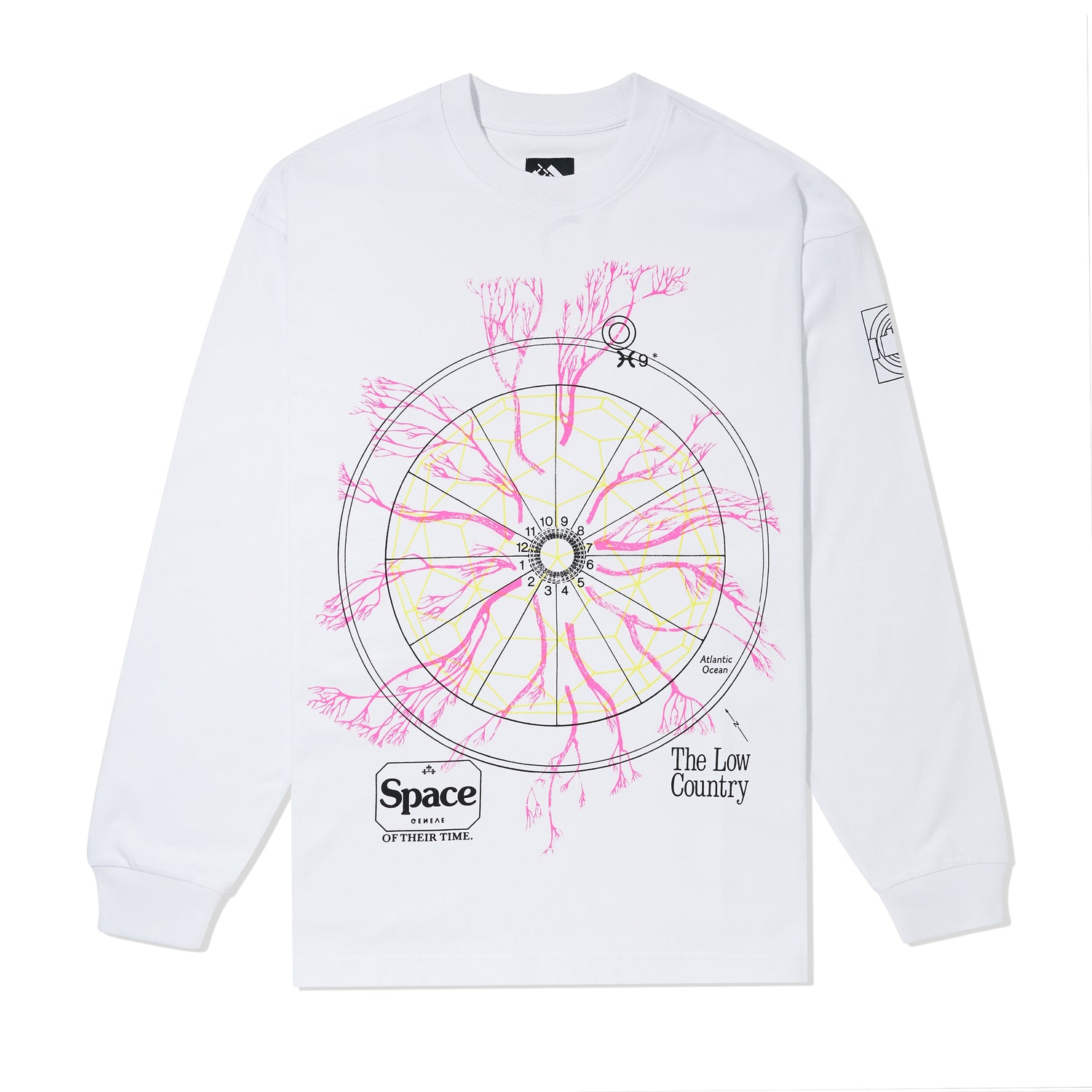 Low Country L/S Tee, White