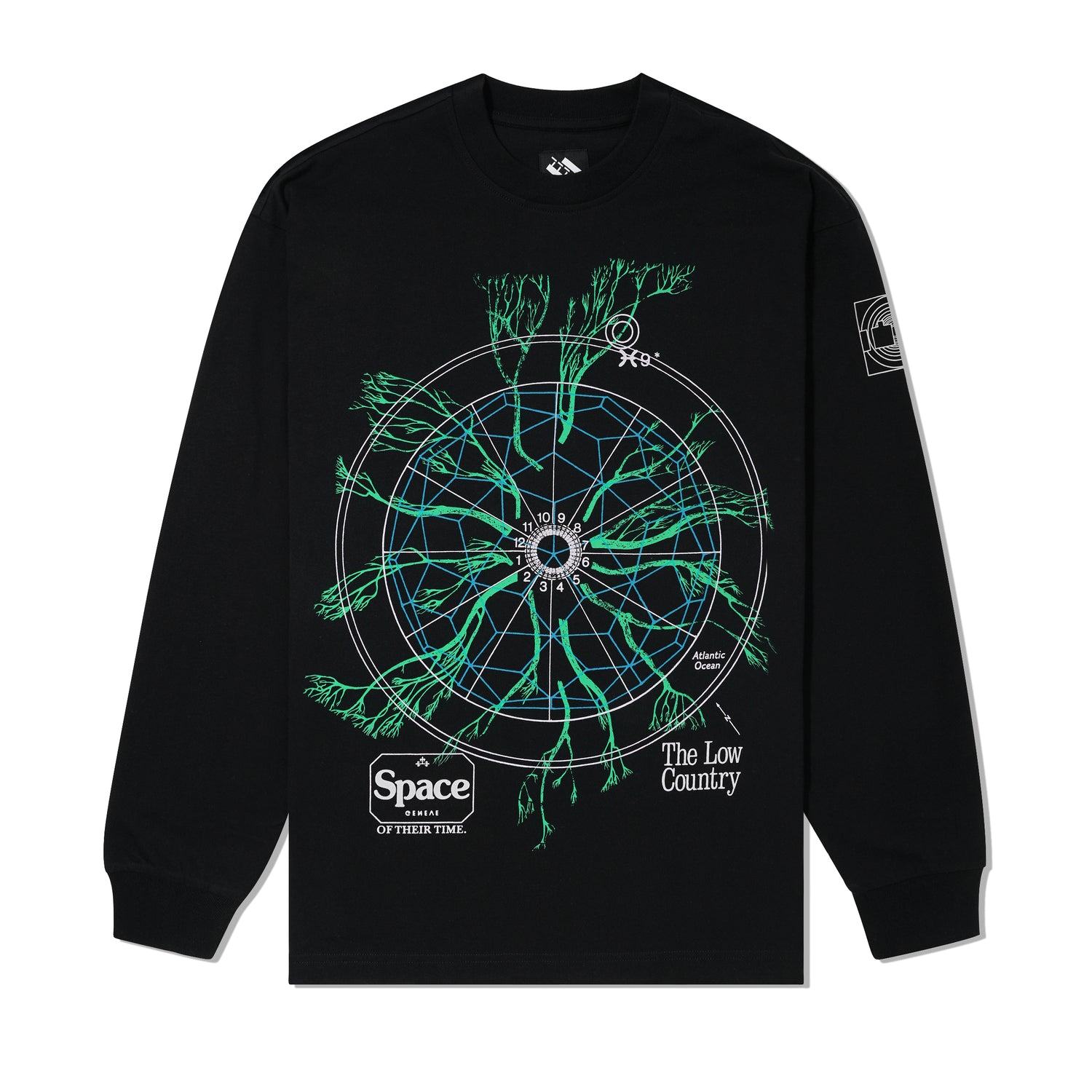 Low Country L/S Tee, Black