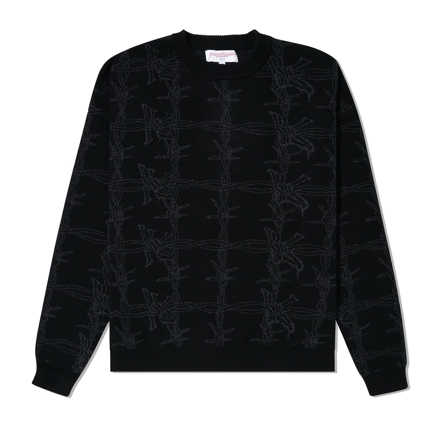 Barbera Knit Crewneck, Black / Black