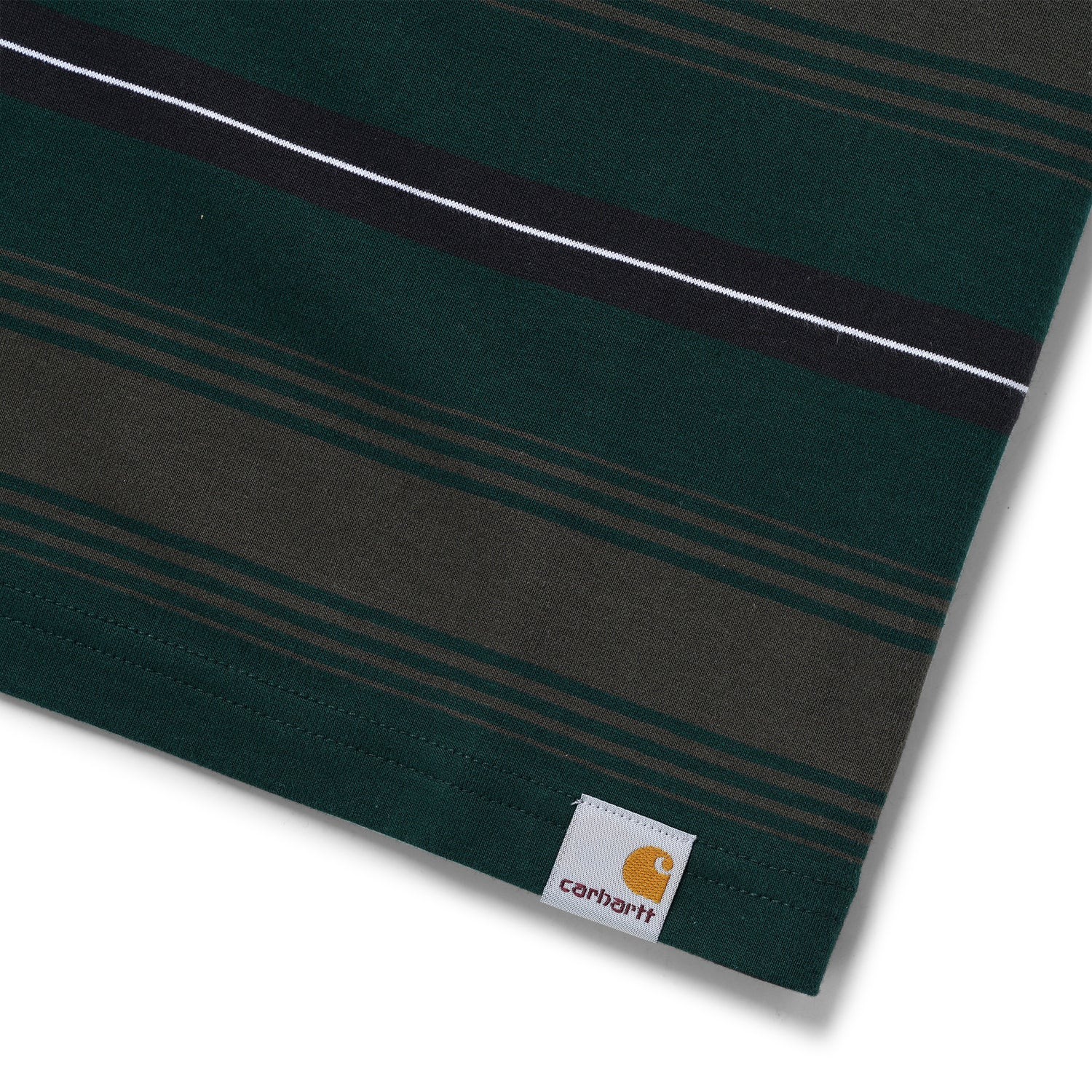 Buren Stripe Tee, Bottle Green