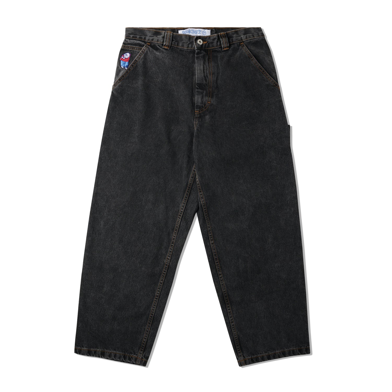 Big Boy Work Pants, Washed Black