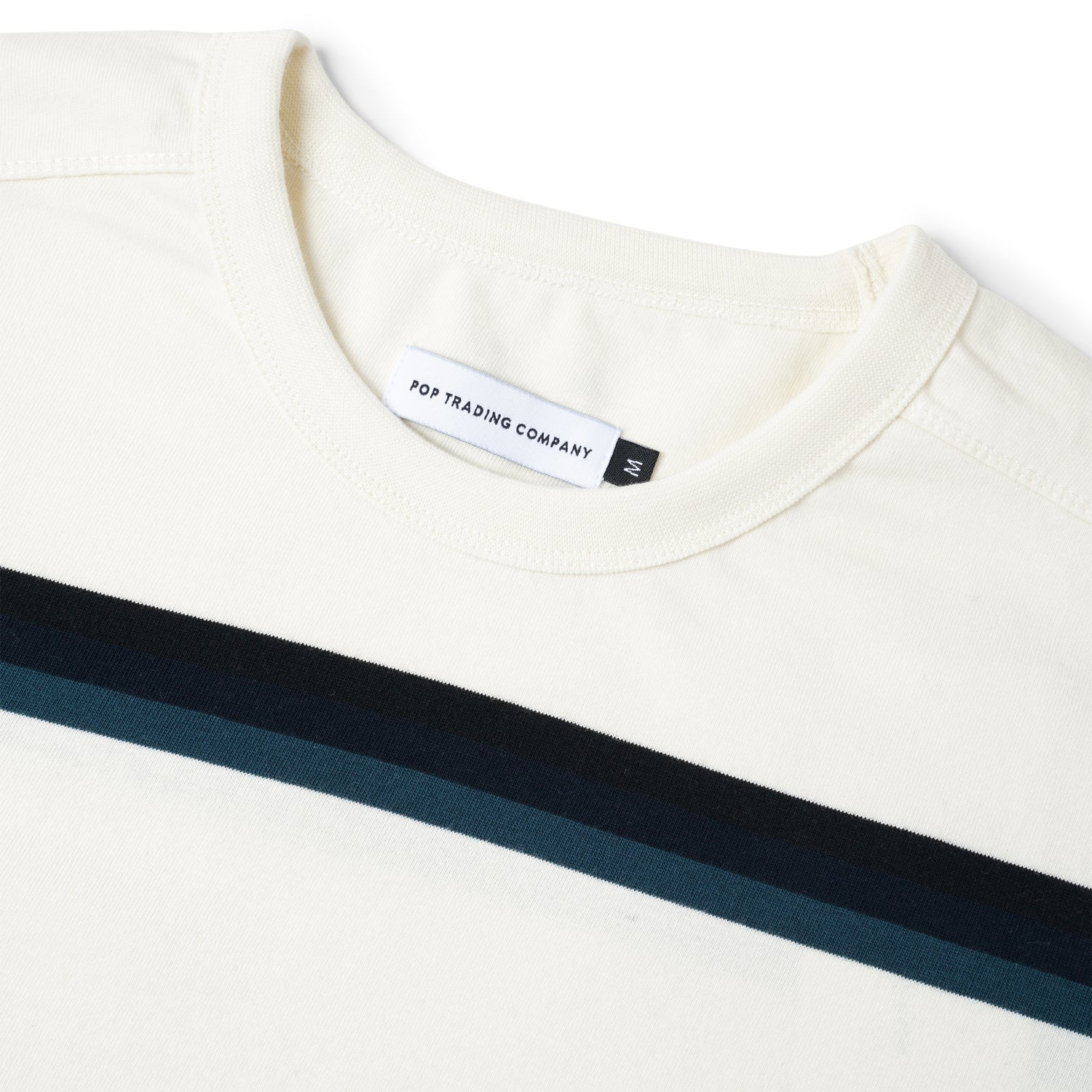 Striped L/S Tee, Off-White / Multi