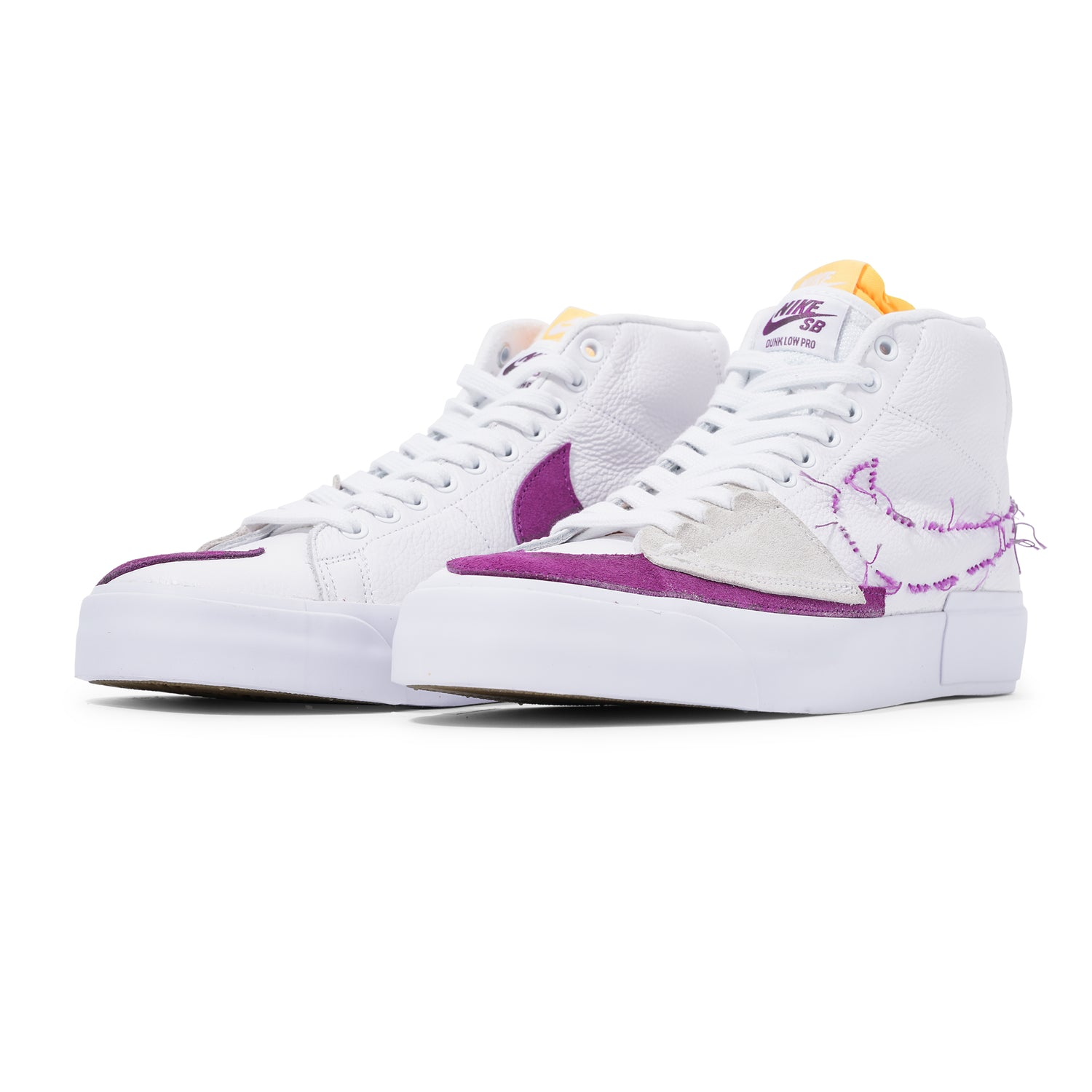 Zoom Blazer Mid Edge, White / Purple-Gold