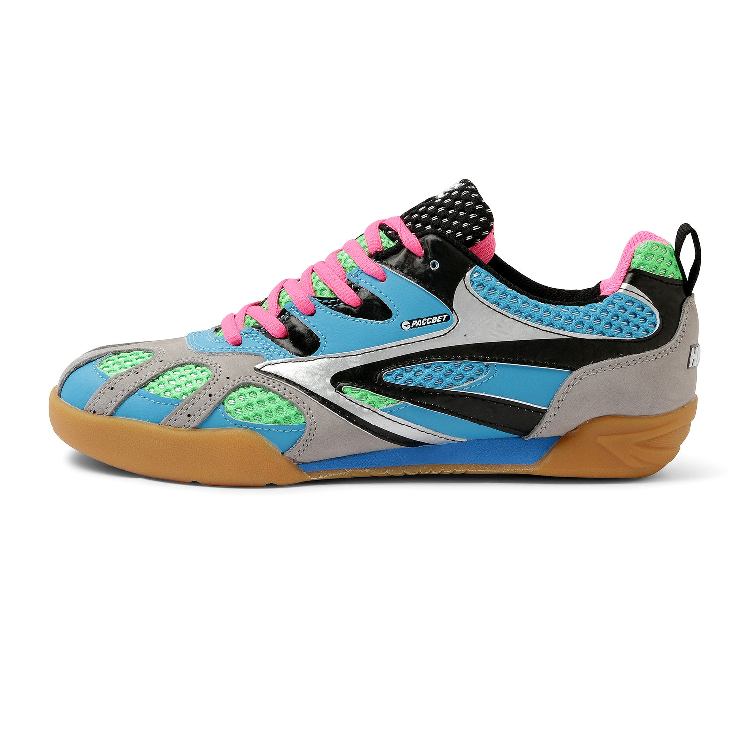 Hybrid Squash Shoe, Blue / Green / Pink