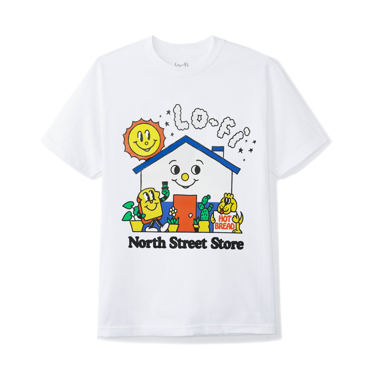 Lo-Fi / North Street Store Tee, White