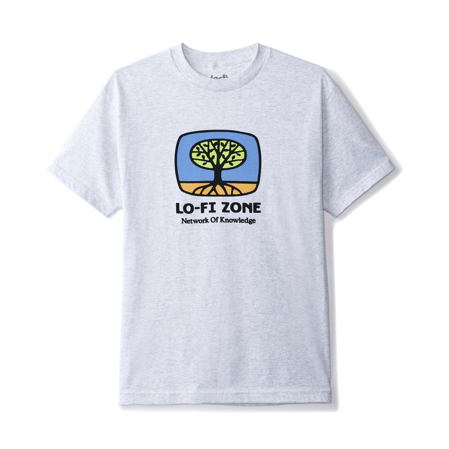 Network of Knowledge Tee, Ash Grey