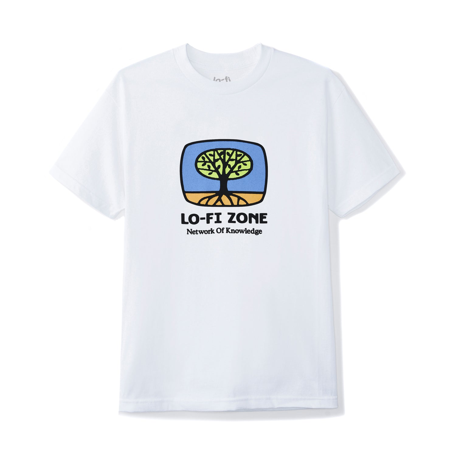 Network of Knowledge Tee, White