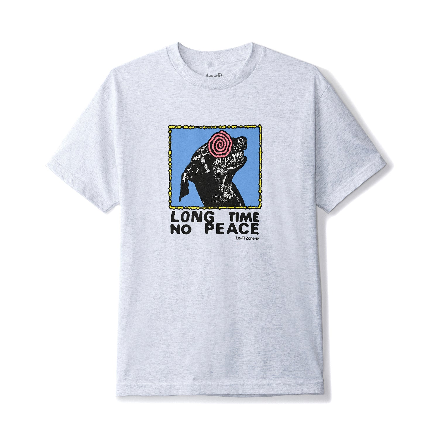 No Peace Tee, Ash Grey