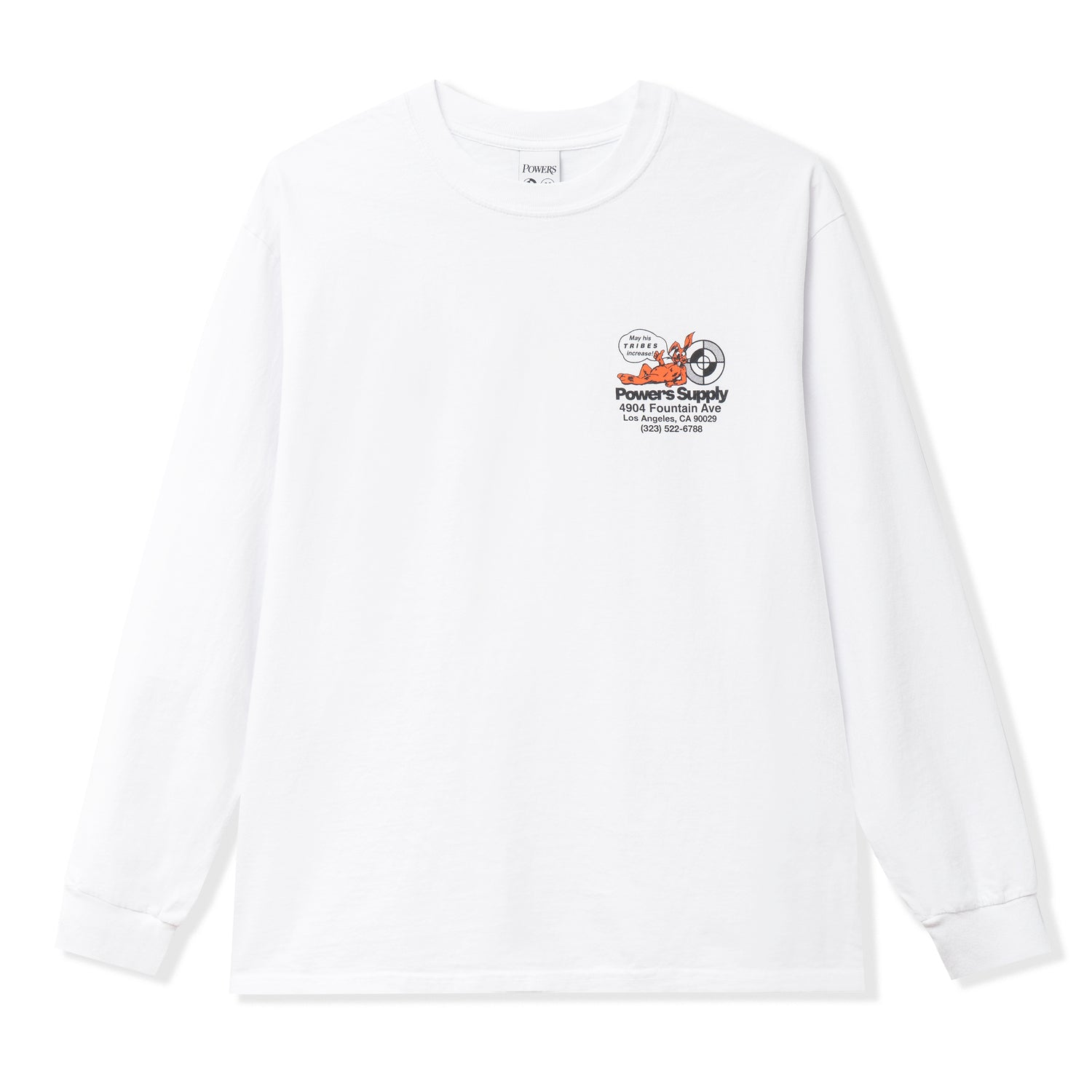 Powers Shop L/S Tee, White