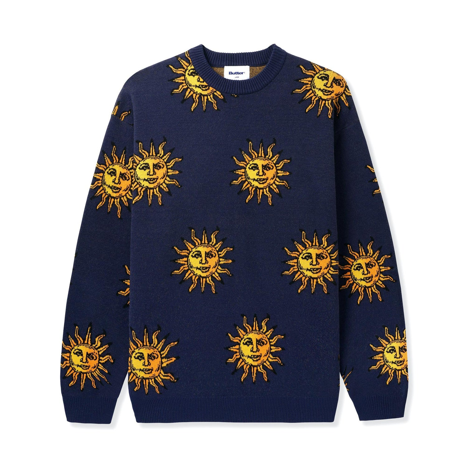 Sun Knit Sweater, Navy