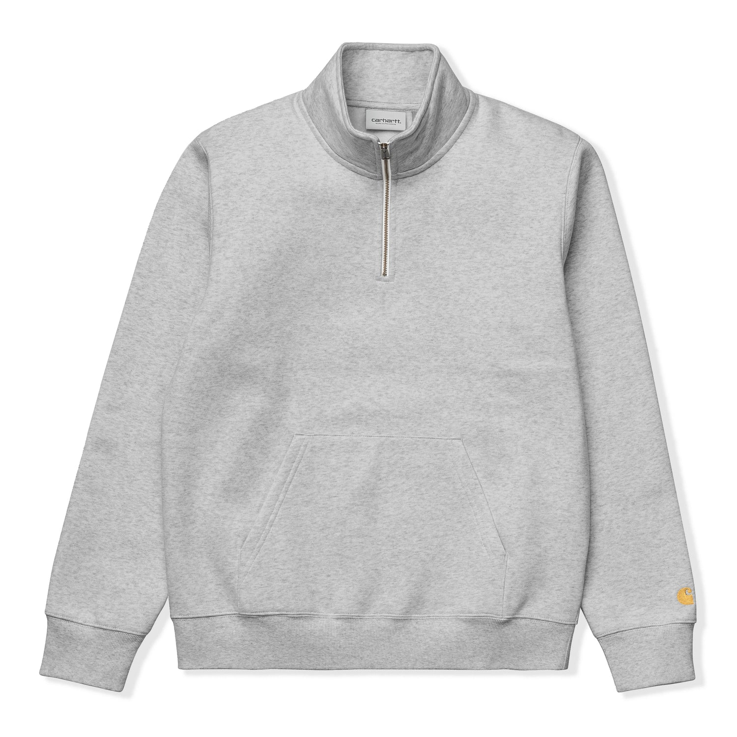 Chase Neck-Zip Sweatshirt, Heather Grey