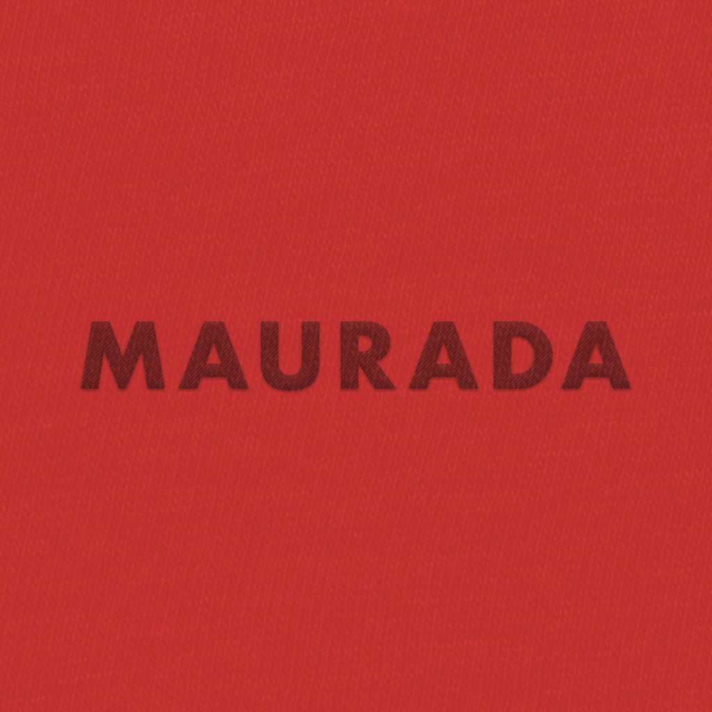Maurada Red Embroidered Hoodie