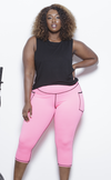 ARBOR Capri Active Leggings- Neon Pink Clothing Fair Shade LLC X-Small