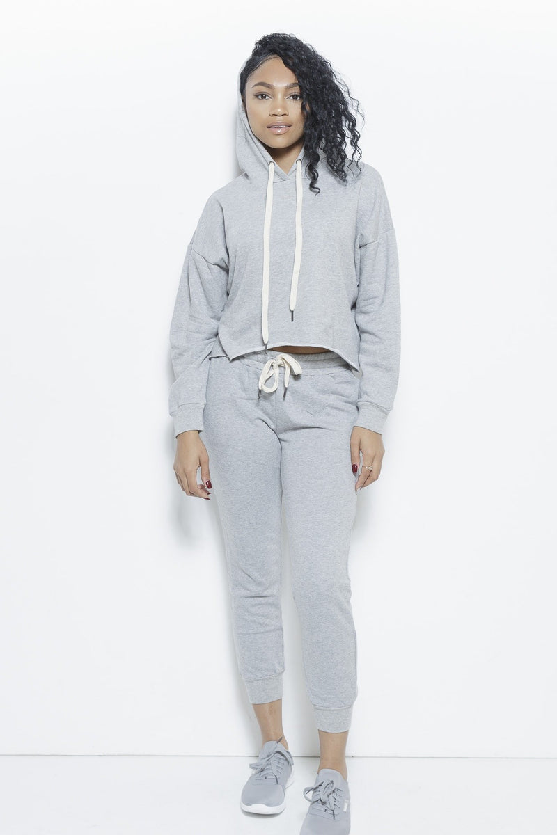 College Days 2-Piece Track Suit- Heather Grey Clothing Fair Shade S Heather Grey 54%COTTON 43%POLYESTER 3%SPANDEX RIB:100%COTTON