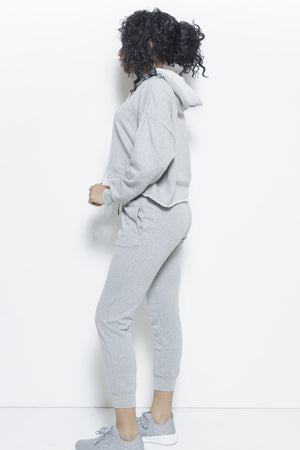 College Days 2-Piece Track Suit- Heather Grey Clothing Fair Shade