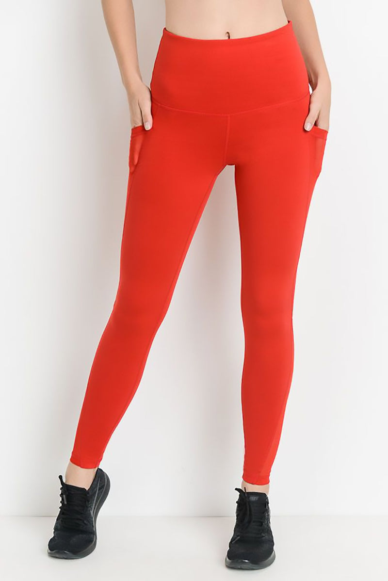 Darling Red - Active Leggings Clothing Fair Shade small Red 88% Polyester 12% Spandex