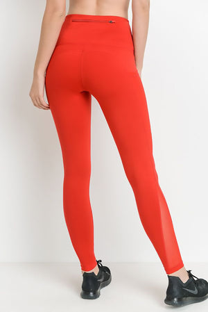 Darling Red - Active Leggings Clothing Fair Shade
