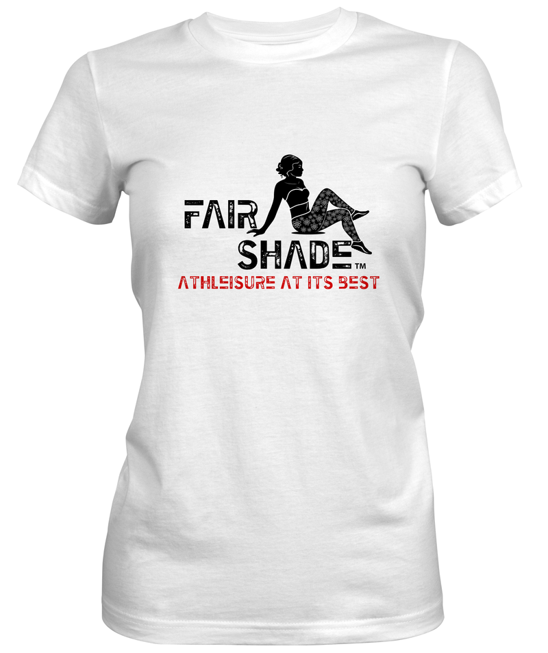 FAIR SHADE Brand Custom Tee Custom Tshirt Fair Shade S Matte Finish White