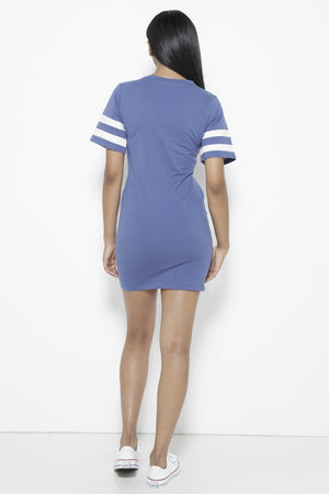 Instant Replay Dress-Blue Clothing Fair Shade