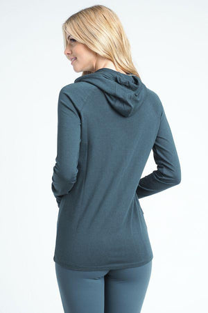 Justify Hoodie Top- Teal Clothing Fair Shade