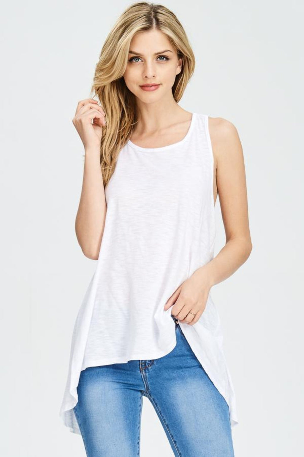 Forgiven Tank Top- White Clothing Fair Shade S White