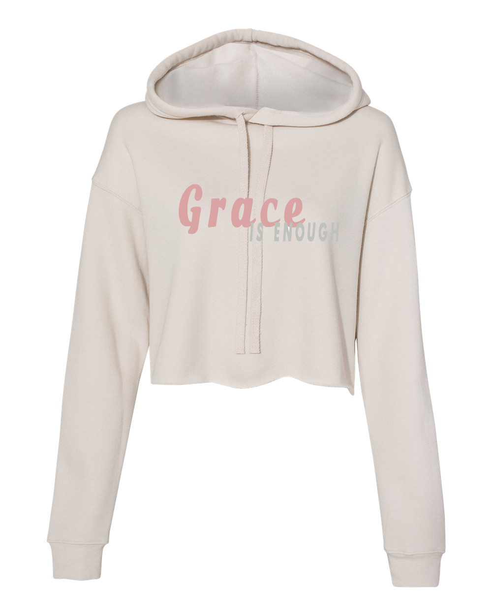 Grace is Enough Cream Hoodie