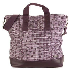 Hadaki On the Go Gym Bag- Accessories Hadoki PLUM PERFECT PLAID